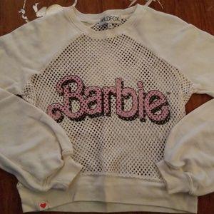 WILDFOX Barbie crop sweatshirt